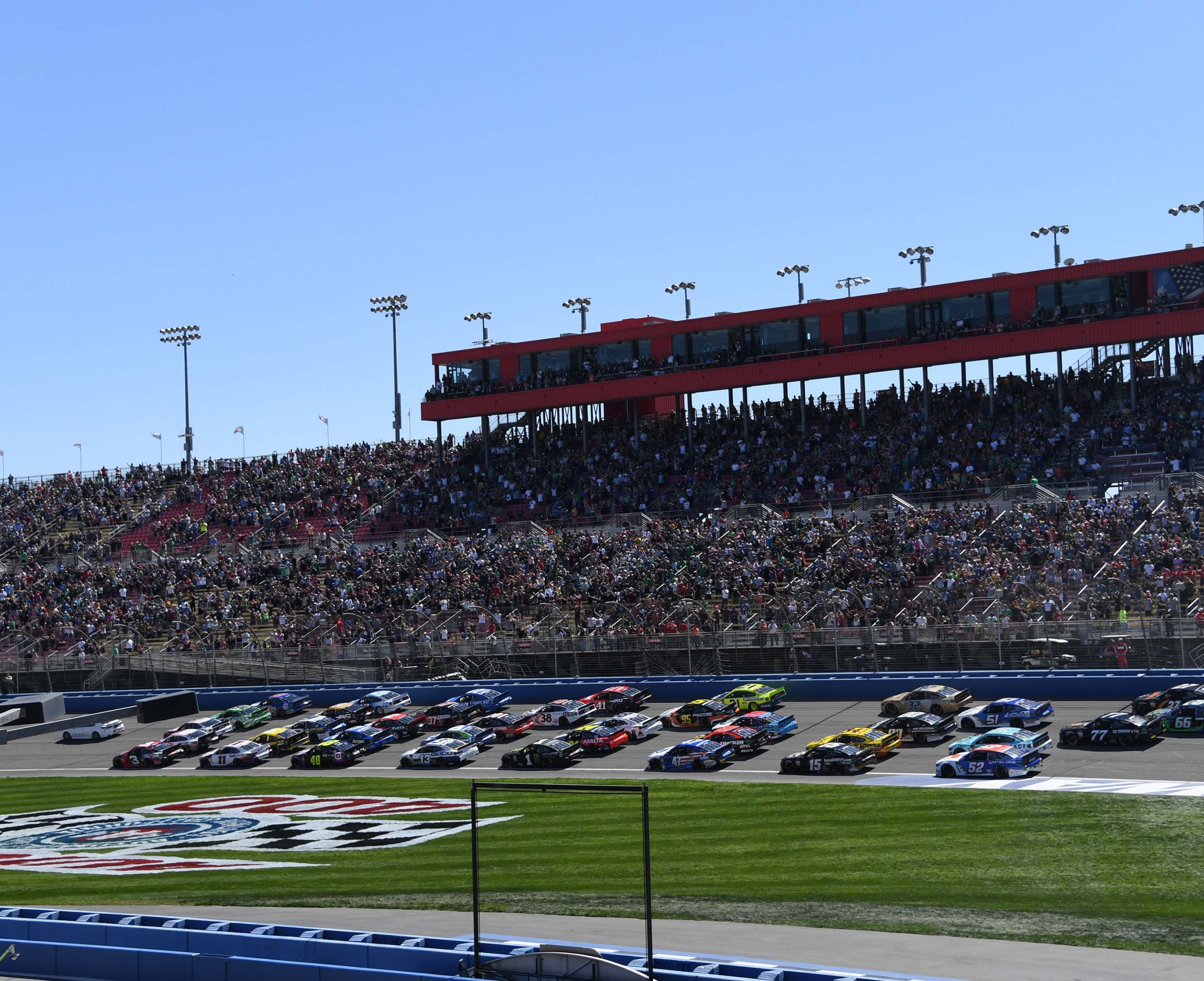 FONTANA-- MARCH 15-17:  NASCAR Cup Series Auto Club 400 at the Auto Club Speedway, March 15-17, 2019 in Fontana, California.